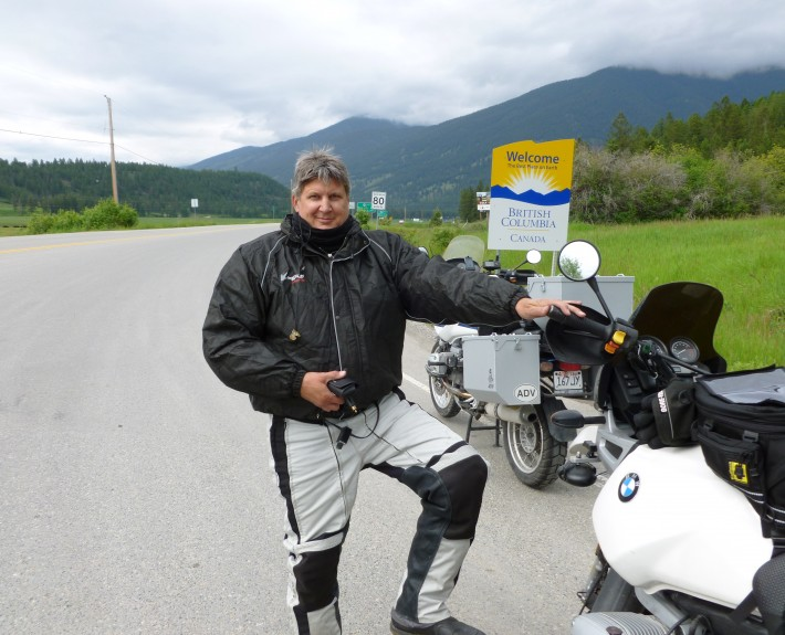 Mike at the Canadian Border