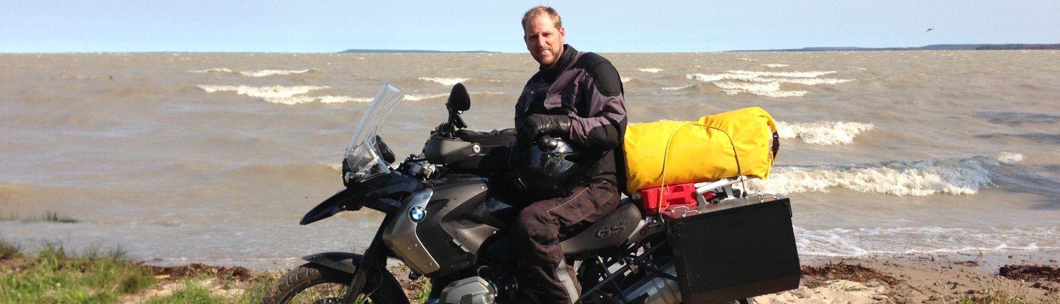 Scott G. Nelson at Great Slave Lake