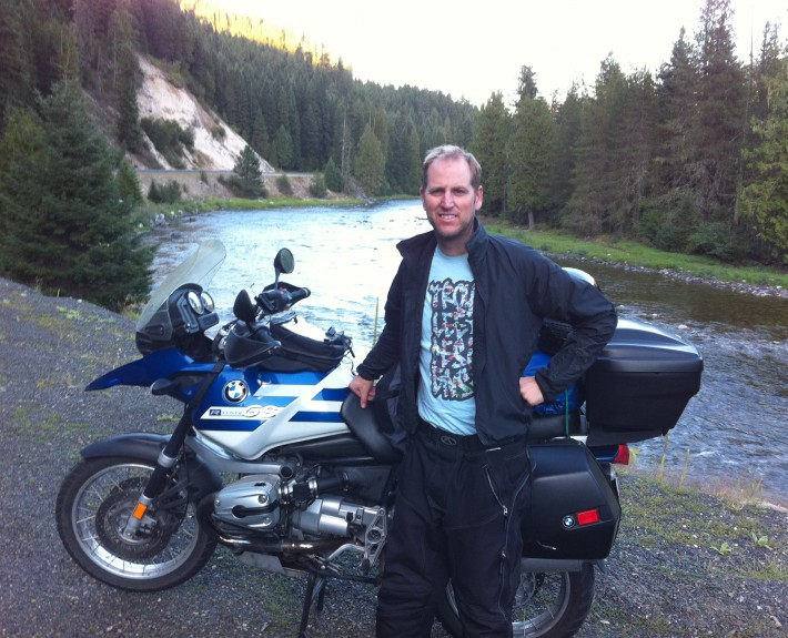 Scott G. Nelson at the Selway River in Idaho