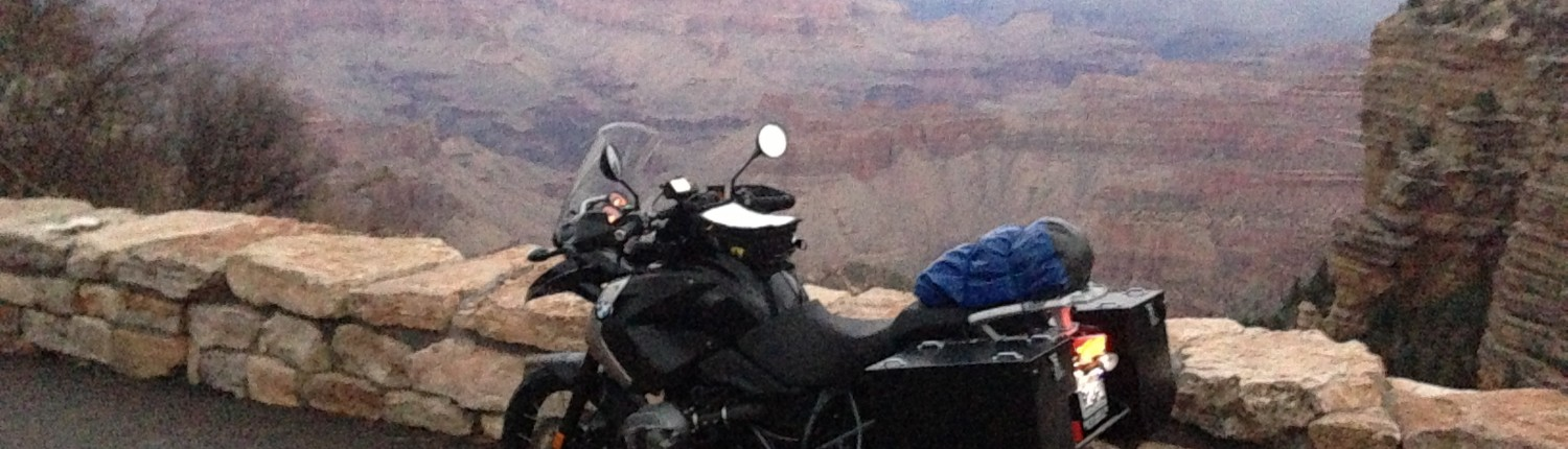 My motorcycle at the Grand Canyon