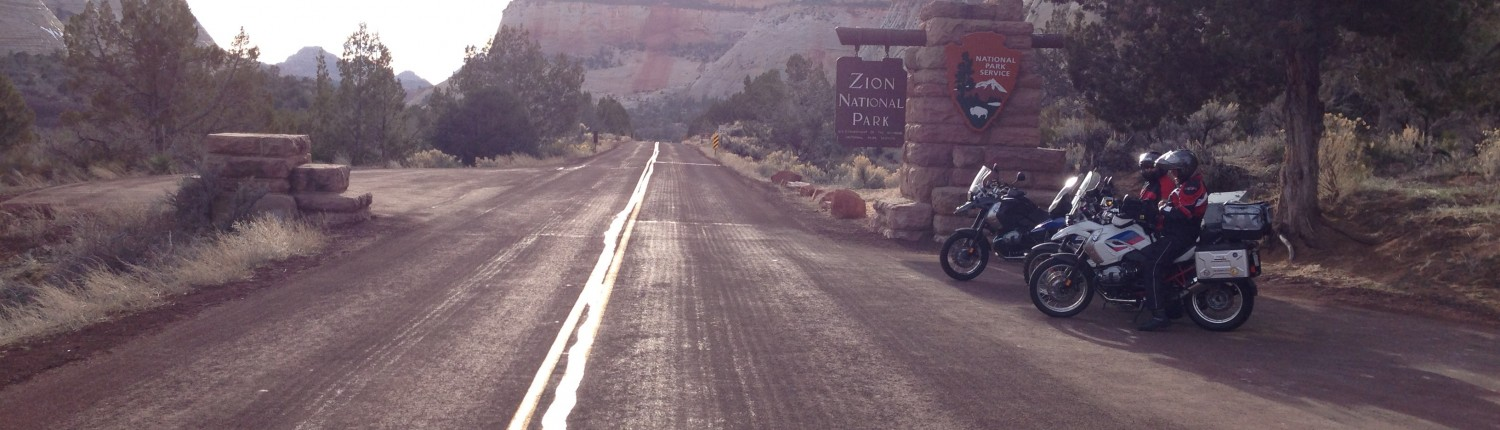Entering the east end of Zion National Park