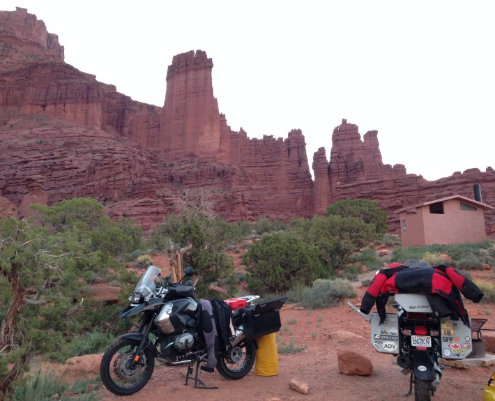 BMW Motorcycles - Fisher Towers, Moab Utah