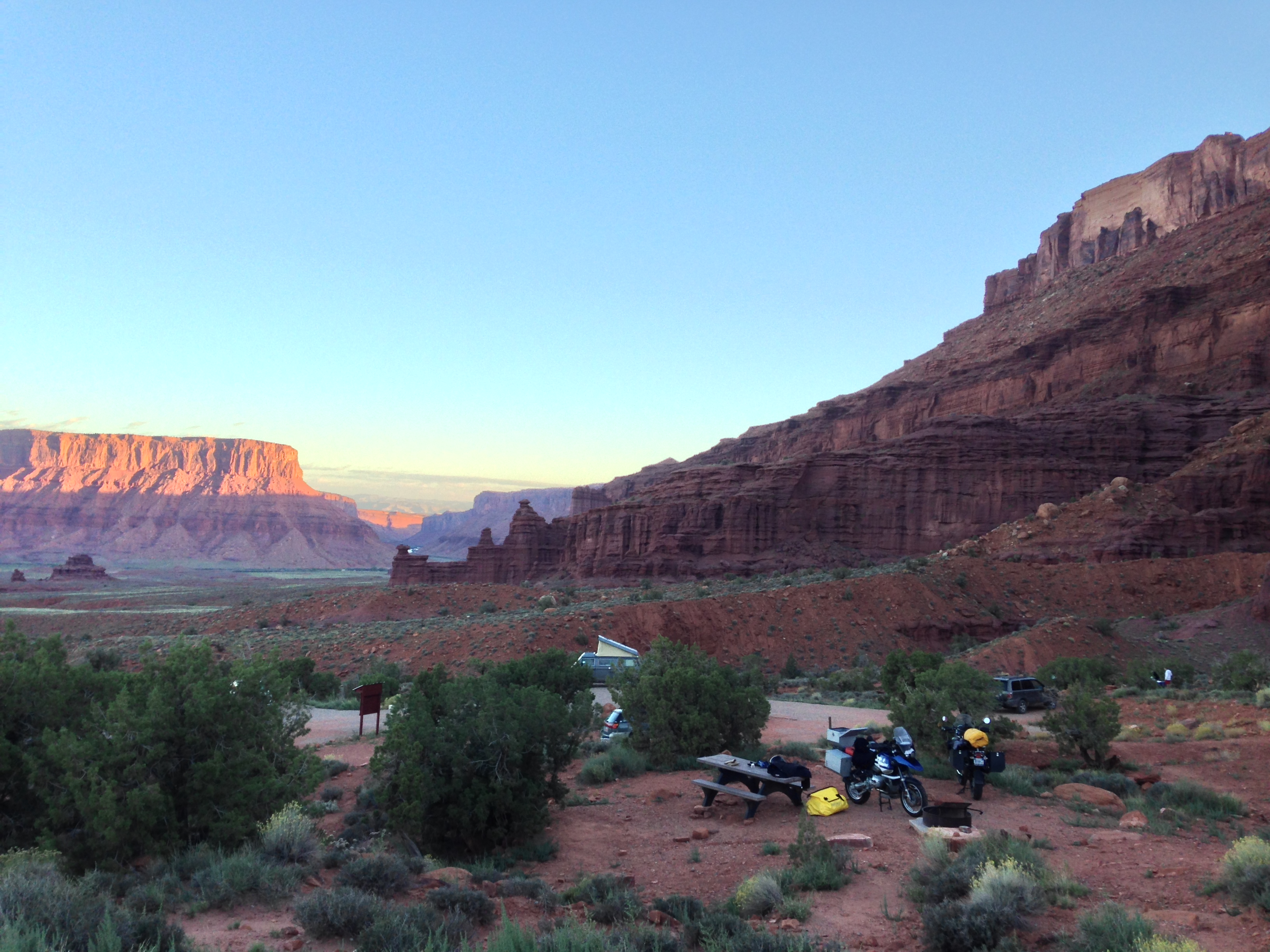 fisher towers campground moab utah � adventure moto touring