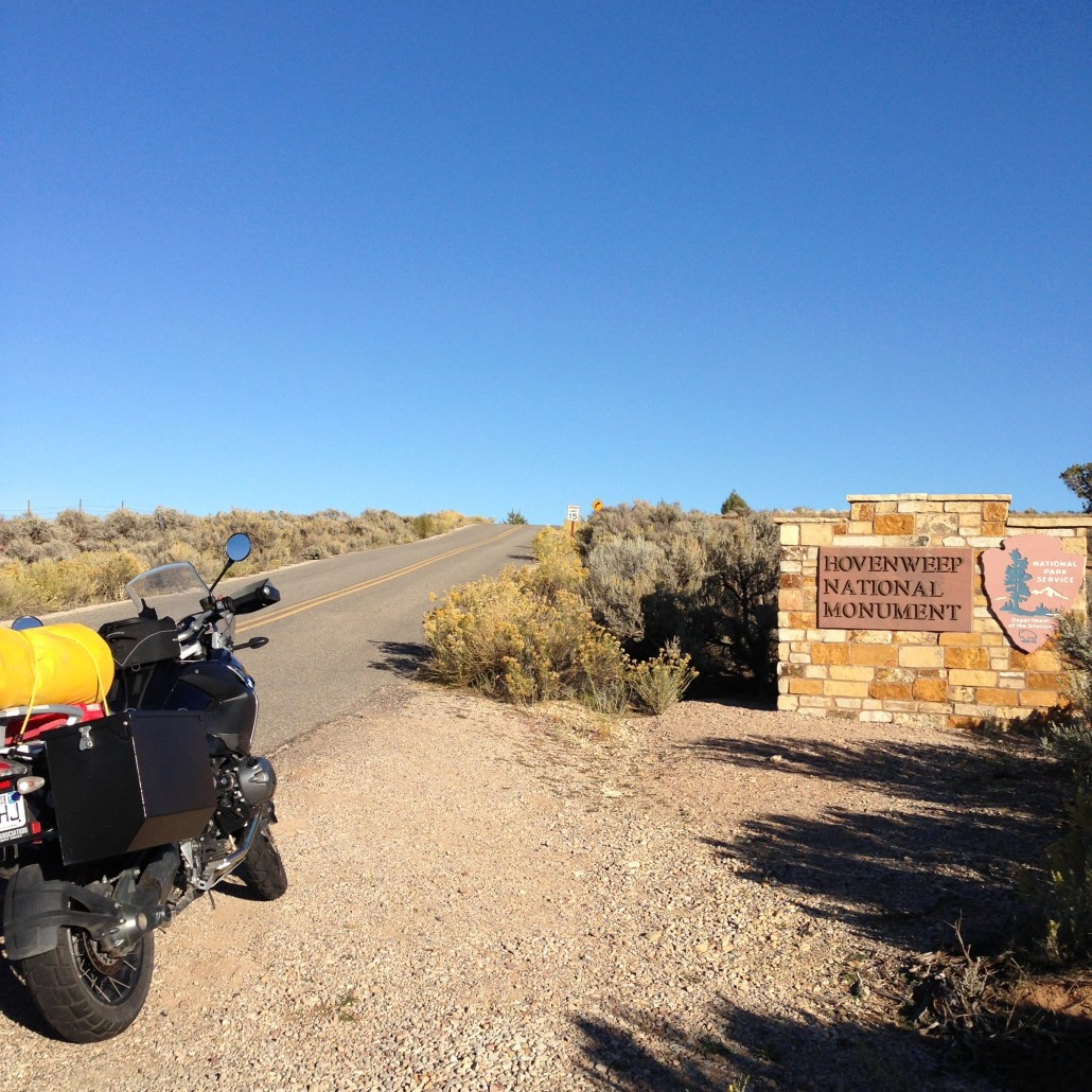 Hovenweep National Monument on our BMW Motorcycles