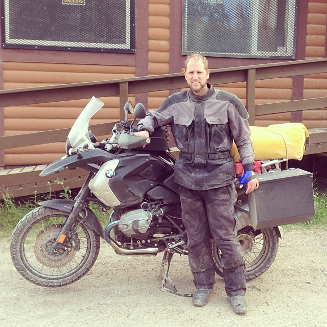 Scott G. Nelson motorcycle touring in Canada