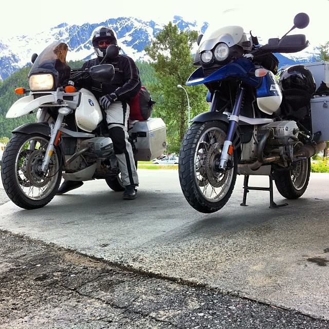 BMW motorcycles, ready to ride