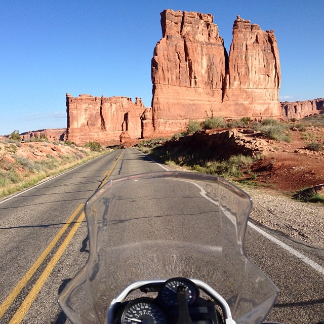 Touring Moab on a Motorcycle