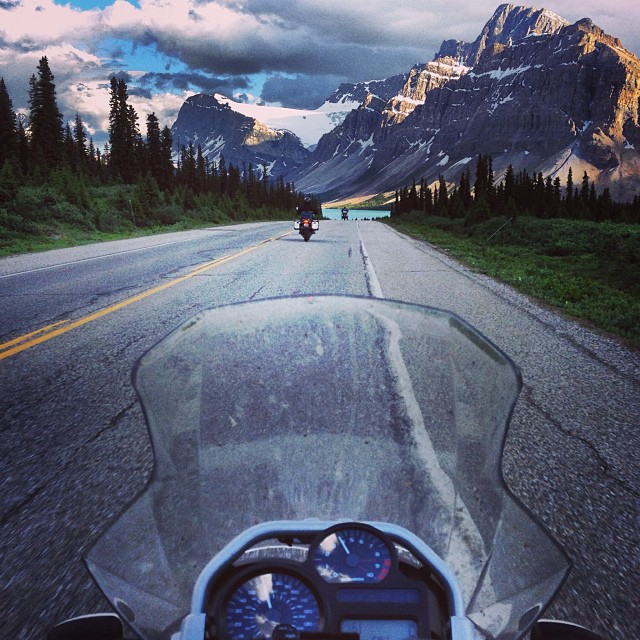 Motorcycle Touring in Banff National Park
