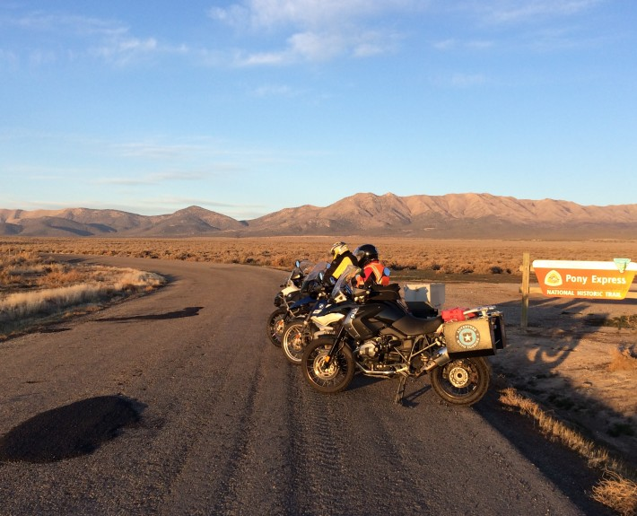 Mike Sears, Ray and Scott G. Nelson riding the Pony Express Trail