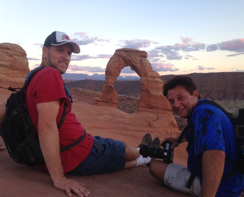 Tony and Scott at Delicate Arch