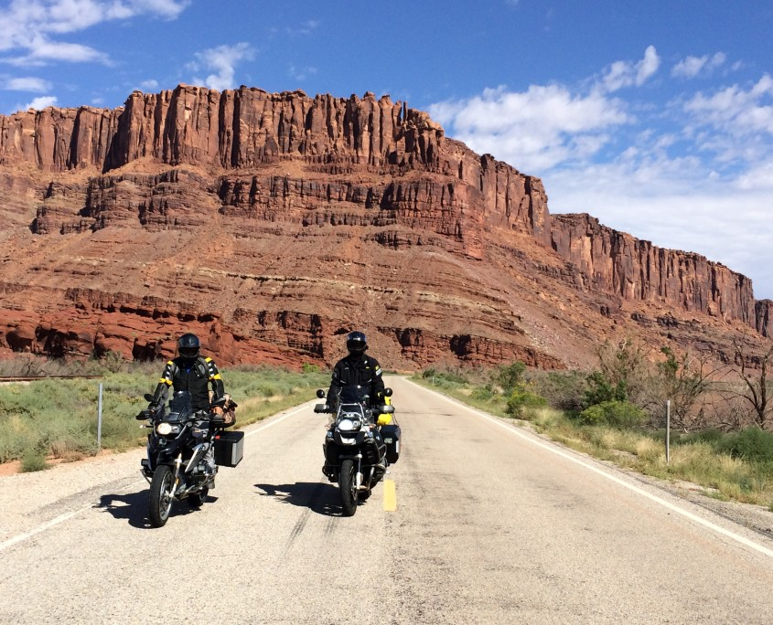 Ray and Tony headed for the Shafer Trail