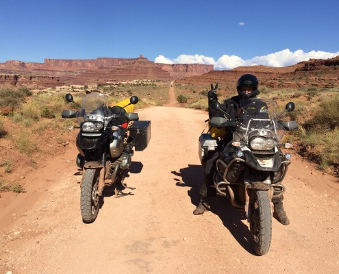 Mark riding the Shafer Trail