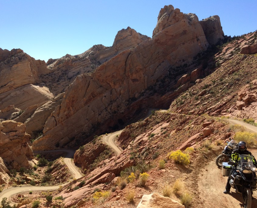 Adventure Motorcycle riding the Burr Trail
