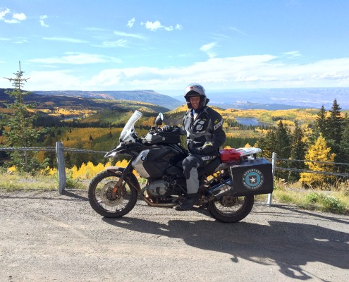 Scott G. Nelson Motorcycle Touring in Grand Mesa, Colorado