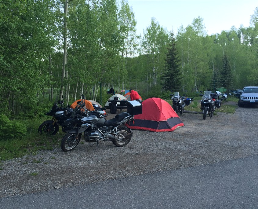 Motorcycling Camping in Telluride, Colorado
