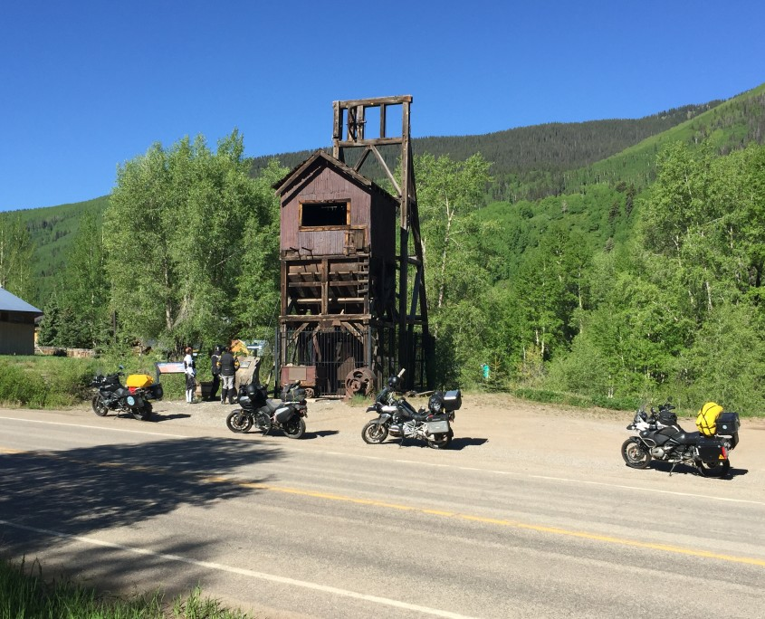 Motorcycle Touring in Rico, Colorado